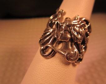Cool Greek Goddess Medusa Sterling Silver Ring - 7.5