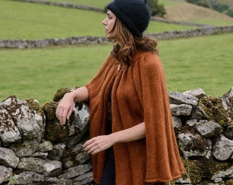 Hand Knitted Mohair Cape