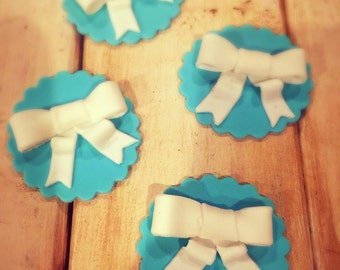 Bow Fondant Cupcake Toppers