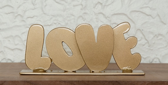 Love Home Decor Sign 8x3 5 Metal Love Sign Perfect