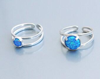 Opal gift ring. Blue opal. Opal ring. White Opal Ring. Opal Ring Sterling Silver. Fire Opal Ring. Adjustable Opal Ring. Opal rings dainty