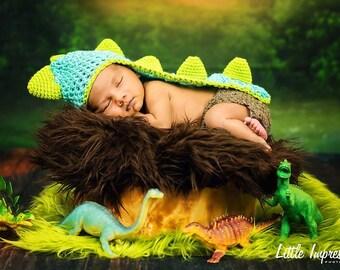 Newborn Dino Hat props, Newborn Dinosaur Baby Hat, Crochet Dino Hat, Dino Animal Hat, Newborn Photo Props, Newborn Hat
