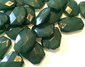 XL 39mm Dark Green Beads, Chunky Acrylic Beads, Jewelry Making, Necklaces, Bracelets, Earrings Making, green Statement Necklaces