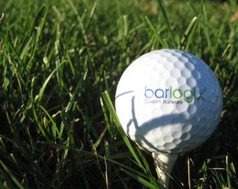 Logo Golf Balls - Business Golf Balls - Personalized Golf Balls - SET OF 6 -  Custom Golf Balls - Printed Golf Balls