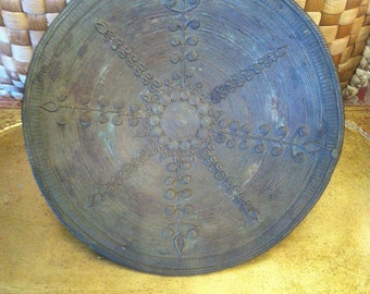 Benin Bronze Decorated Plate