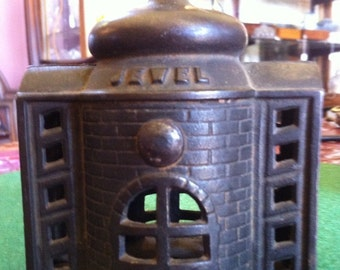 Early 1900's Jewel Building Cast Iron Penny Bank