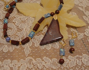 Mahogany Obsidian Necklace Set