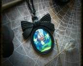 Magica De Spell Necklace, Witch, Duck Tales, Goth, Gothic Jewelry, Halloween Necklace