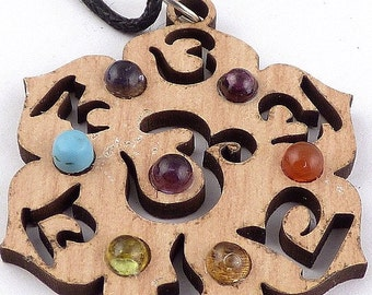NECKLACE 7 jewel pendant jewel during chakra balancing aga25 lithotherapy reiki chakra CHAKRAS