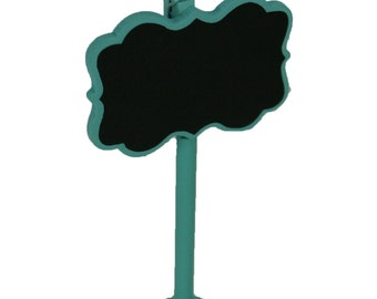 Set of 4 Mini BLUE Chalkboard Stand Party Table Numbers Place Card Favor with Clip