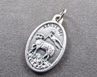 Agnus Dei Medal Italian Made Rosary Medal Catholic Medal Rosary Part Holy Medal Flat Rate Ship