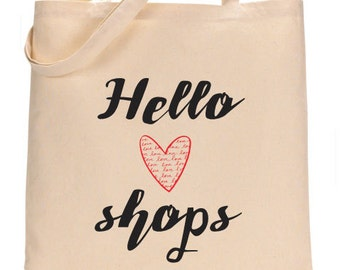 Canvas Tote - Hello shops