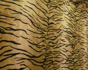 Tiger Striped Plush Fabric