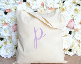 Initial Tote - Bridesmaid Tote - Bridesmaid Gift - Personalized Tote