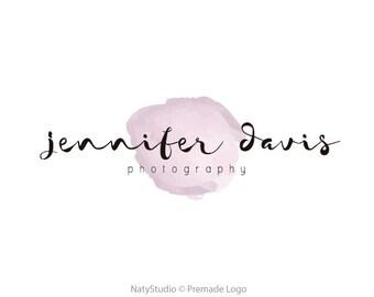 Custom Logo Design Premade Logo for Photographers - photography logo graphic design business logo handwritting logo watercolor logo