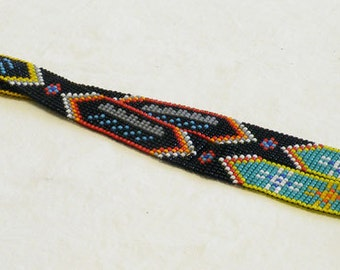 OOAK loom woven hand made hat band HB10