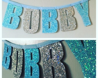 Personalised Glitter bunting/banner
