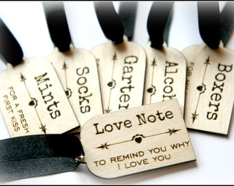 Wooden Groom Survival Kit Tags, Groom Gift, Night Before The Wedding Gift, Groom To Be Gift