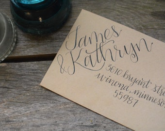 Custom Handwritten Calligraphy Envelope Addressing