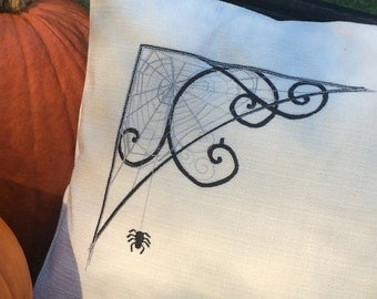 Spider and web pillow