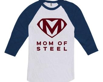 Mom Of Steel Shirt - Superhero Shirt, Mothers Day Shirt, Mothers Day Gift, Superhero Shirt, Superhero Gift, Mom is my Superhero CT-263