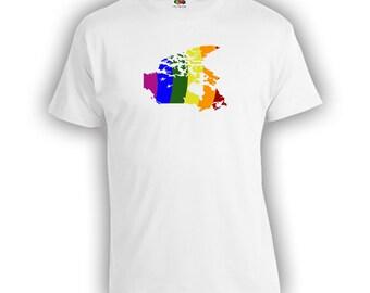 Canada Lgbt Ally Shirt - Canada Outline, LGBT Ally t-Shirt, Gay Pride Clothing, Gay Pride Merchandise, Mens Womens Shirts Lgbt shirts CT-419