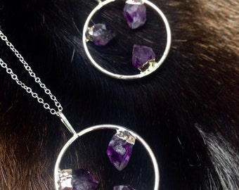 Circular Amethyst Necklace
