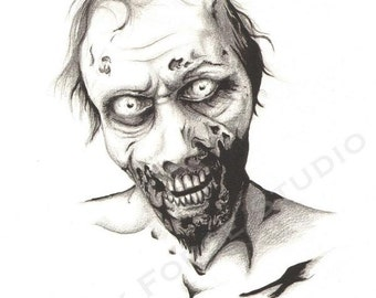 Temporary Tattoo - Zombie The Walking Dead