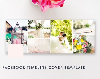 Facebook Timeline Cover Template - Blog Banner Design - Digital Photography Templates - Instant Download