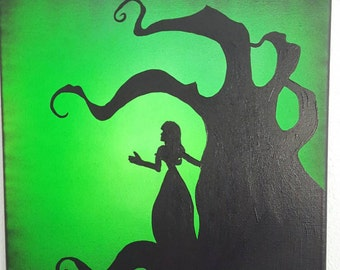 Corpse Bride | Remains of the Day | Acrylic Painting 12x12 | Tim Burton