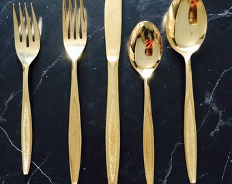 Antigua gold flatware