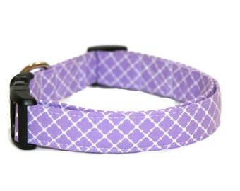 Purple Geometric Dog Collar