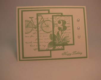 Stampin Up Triple Treat Birthday Card - Postage Due