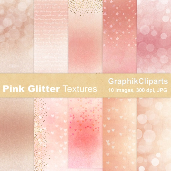 Pink glitter textures glitter rose gold baby shower for Baby pink glitter wallpaper