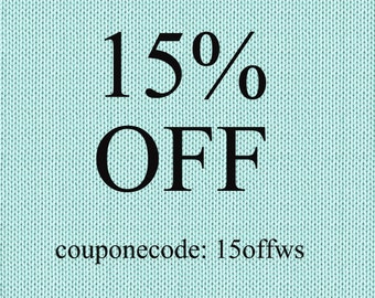 15% OFF! - Coupon Code: 15OFFWS