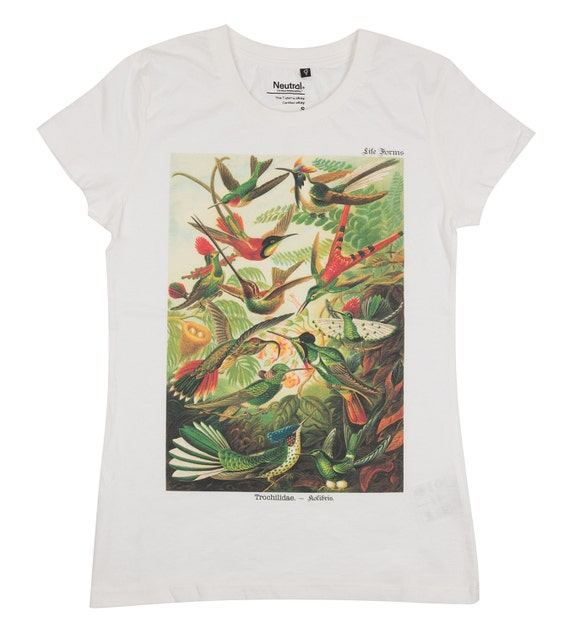 Fair Trade Organic T Shirt With Hummingbirds