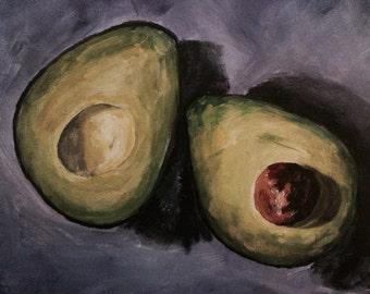 My Avocado.....fine art with a twist/avocado in acrylic
