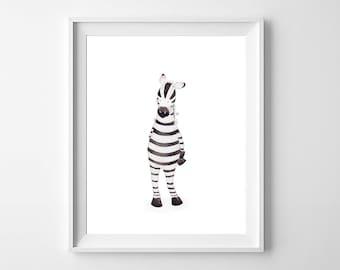 Zebra Nursery Wall Art,Zebra Nursery Print, Nursery Art,Girls Nursery,Baby Room Art,Zebra Kids Room,Zebra Baby Room,Zebra Children Art