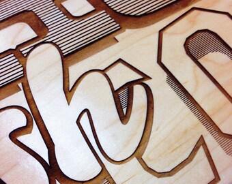 Personalized Laser Engraved Skateboard Deck