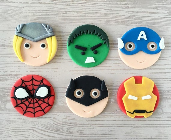 Fondant spiderman cupcake toppers - photo#14