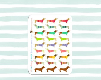 Dressy Dachshunds | Planner Stickers