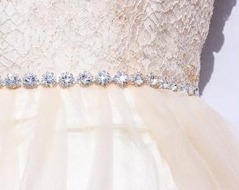 Crystal rhinestone belt Thin Bridesmaid belt  wedding sashes and belts Bridal crystal belt  bridal sash rhinestone sash  bridal belt