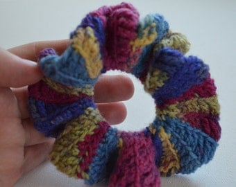 Made to Order Crocheted Spring Pink Scrunchie