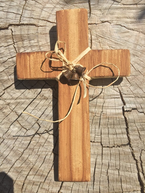 Mexican Wall Hanging Decor : Mexican rustic cross wall hanging faux wood by