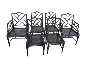 Chinese Chippendale Set of 6 Chairs