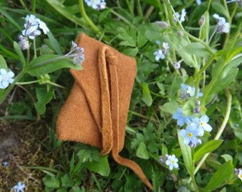 Medicine bag. Native American Leather pouch. Deerskin. For sweetgrass Amulet Lucky. American Indian deertan leather pouch