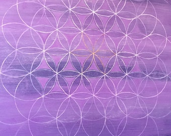 Sacred Geometry Whimsical Painting