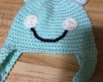 Crochet Frog Baby Hat