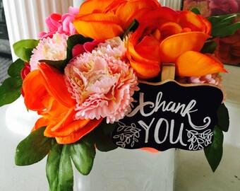Vibrant Chic Artificial Floral Arrangement
