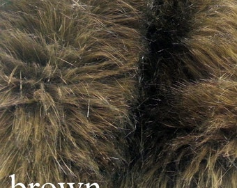 Brown Fur Fabric FREE SHIPPING 12x12 and 20x20 Craft Squares Brown Faux Fur, Brown Fur Fabrics